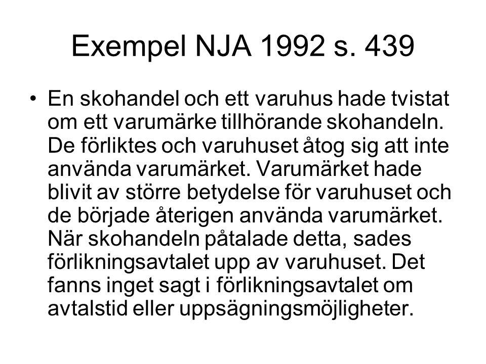 Exempel NJA 1992 s. 439