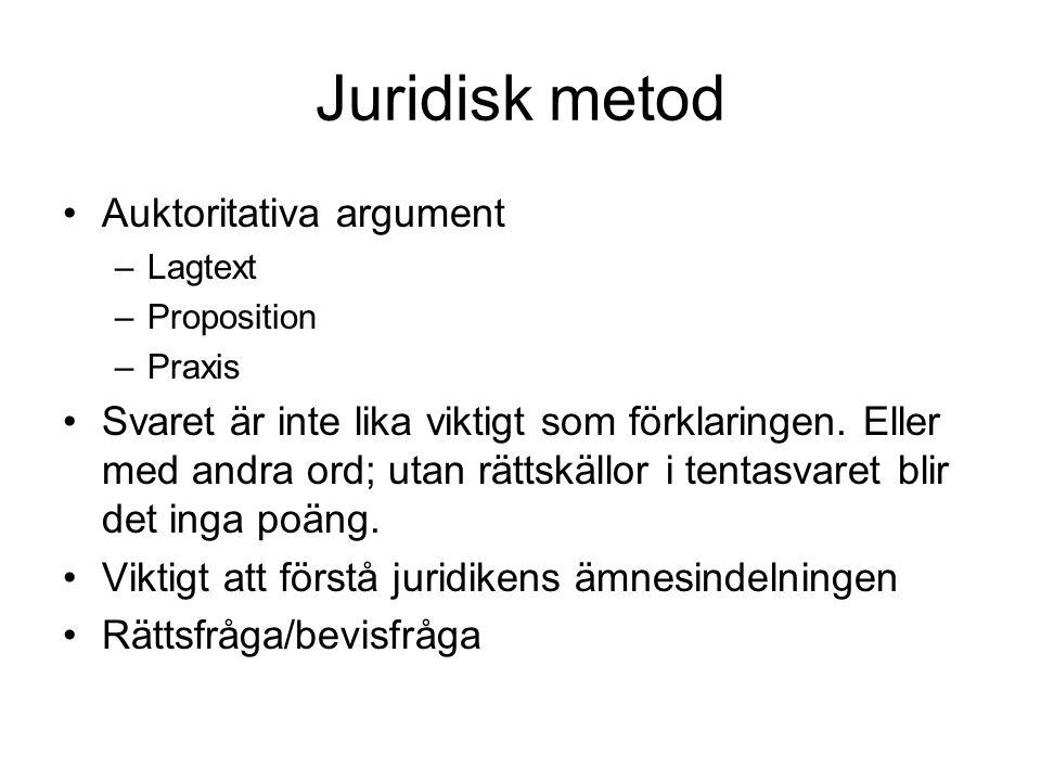 Juridisk metod Auktoritativa argument