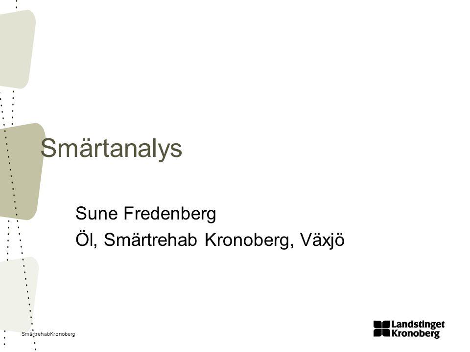 Sune Fredenberg Öl, Smärtrehab Kronoberg, Växjö
