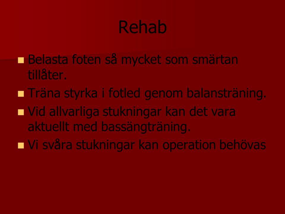 Rehab Belasta foten så mycket som smärtan tillåter.