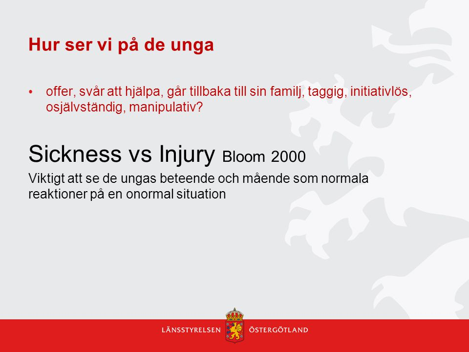 Sickness vs Injury Bloom 2000