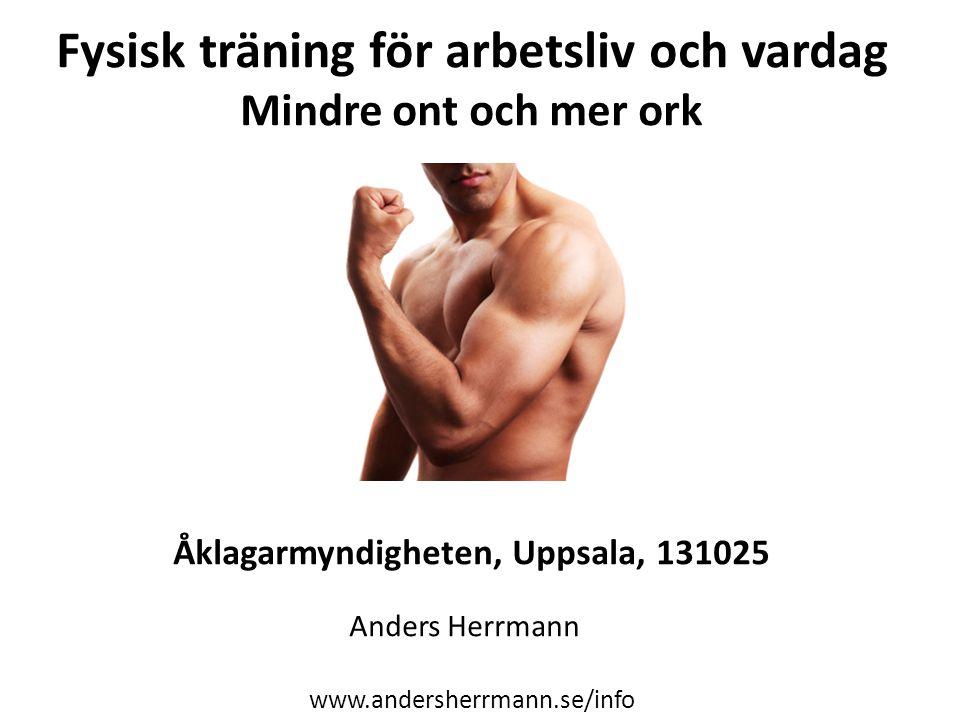 Fysisk träning för arbetsliv och vardag