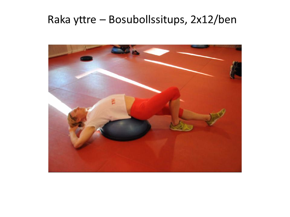 Raka yttre – Bosubollssitups, 2x12/ben