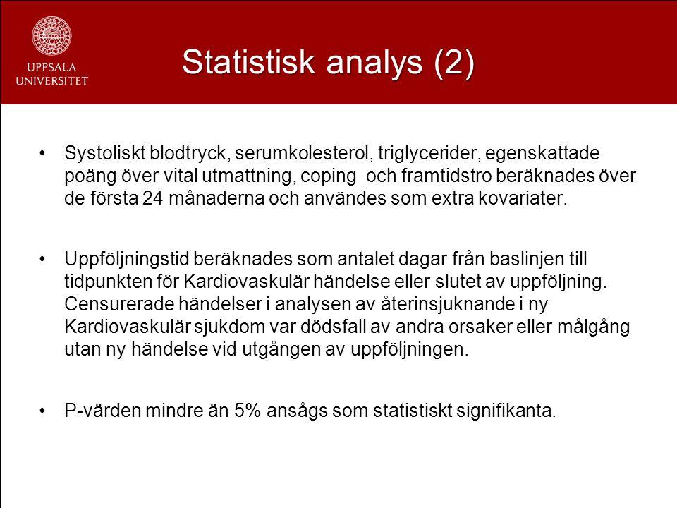 Statistisk analys (2)