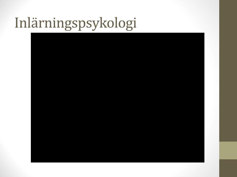 Inlärningspsykologi