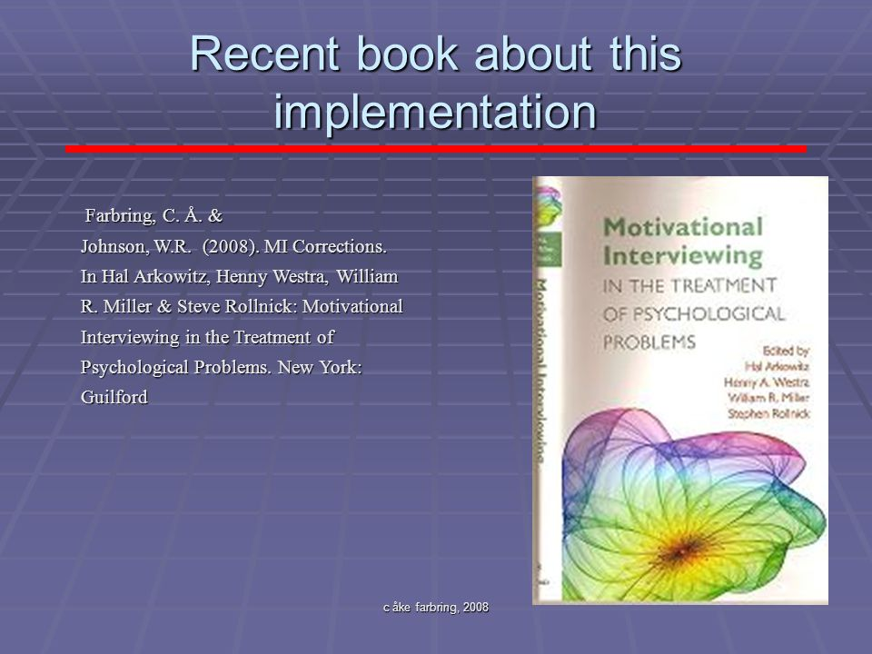 Recent book about this implementation