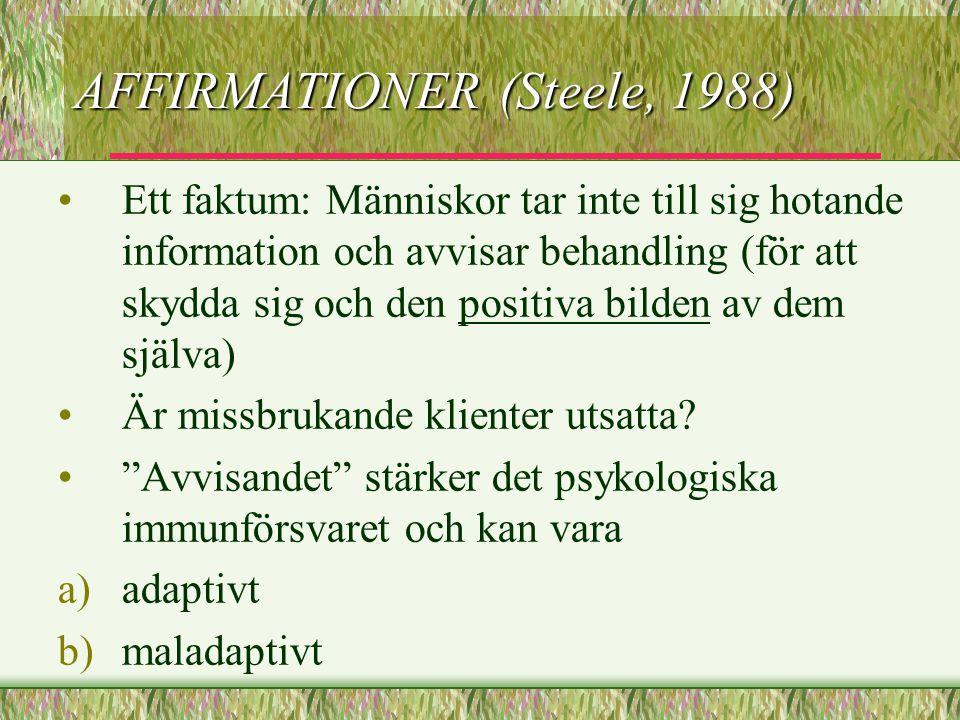 AFFIRMATIONER (Steele, 1988)