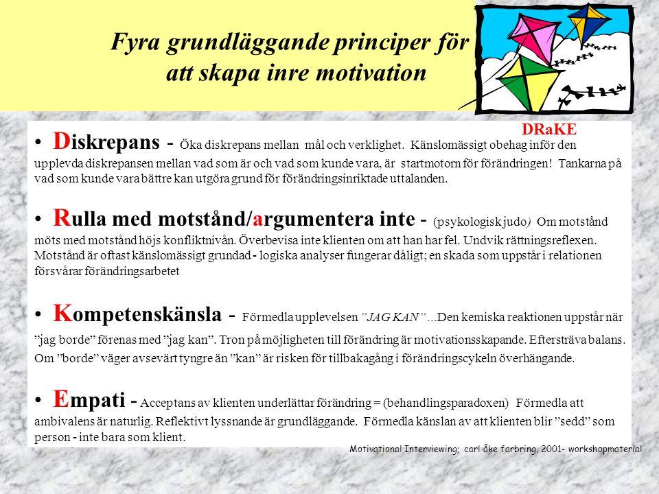 Fyra grundläggande principer för att skapa inre motivation