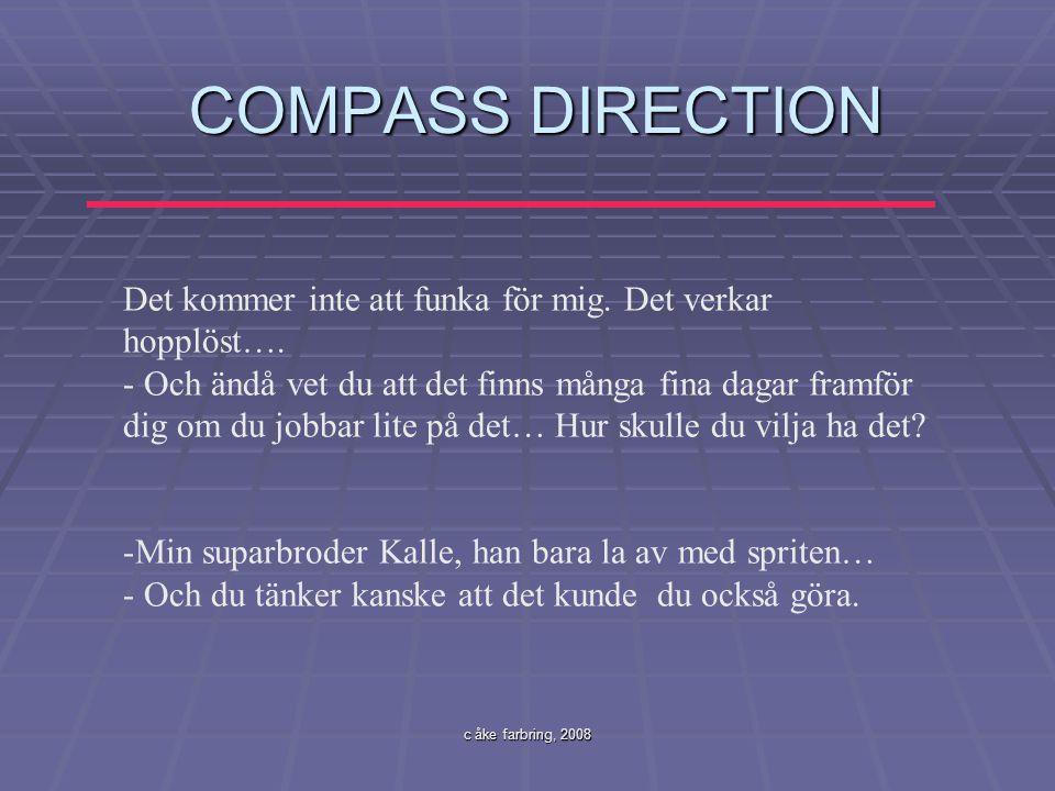 COMPASS DIRECTION Det kommer inte att funka för mig. Det verkar hopplöst….