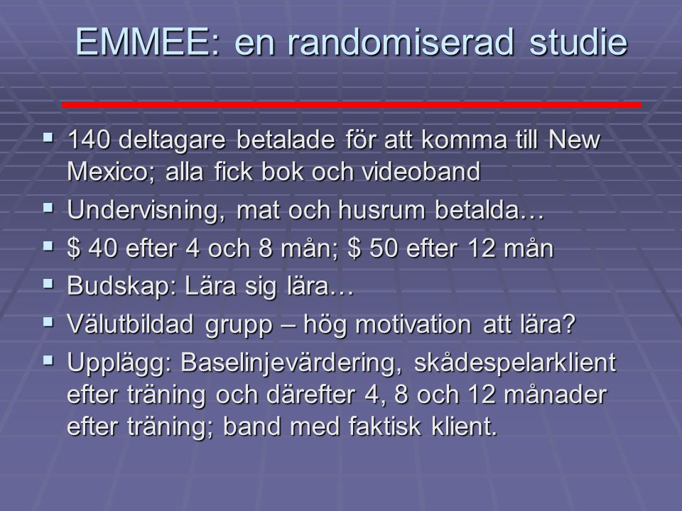 EMMEE: en randomiserad studie