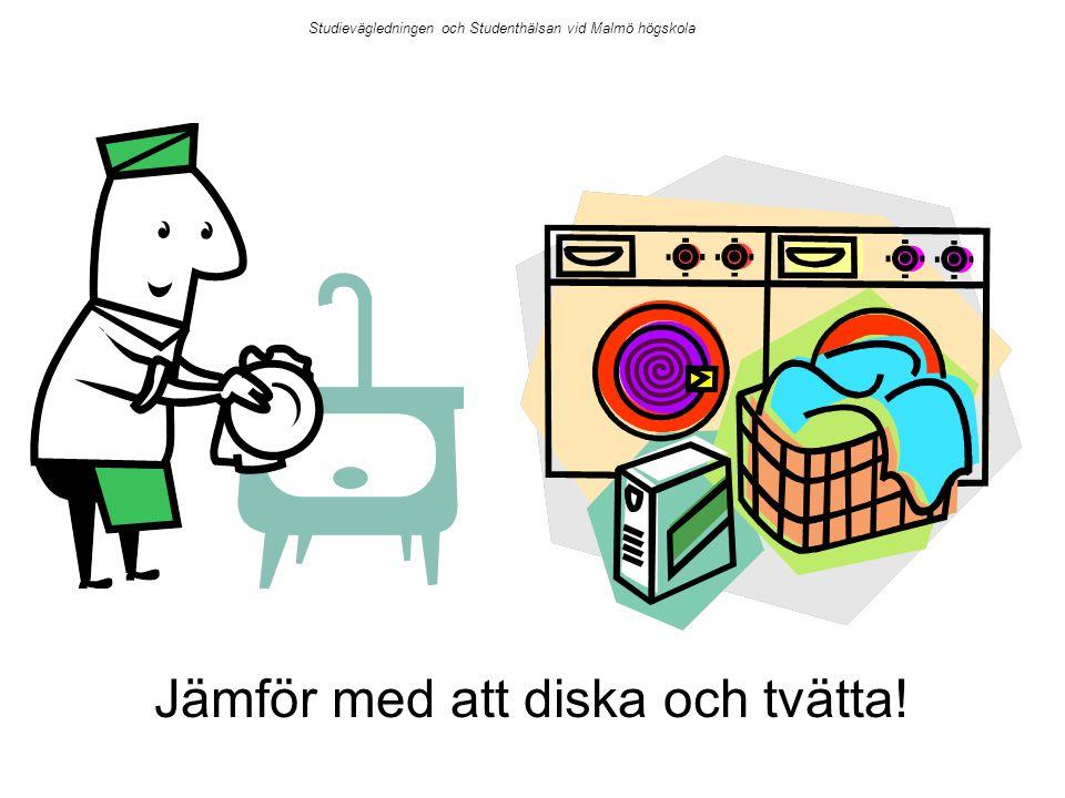 Jämför med att diska och tvätta!