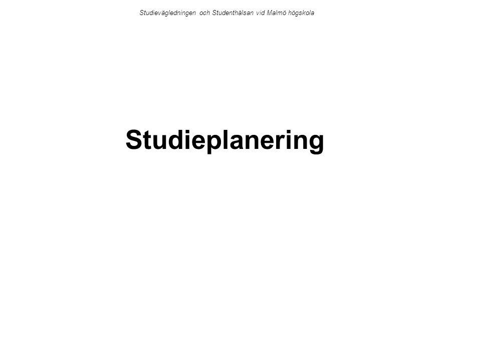 Studievägledningen och Studenthälsan vid Malmö högskola