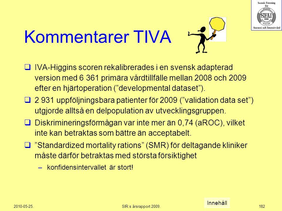 Kommentarer TIVA