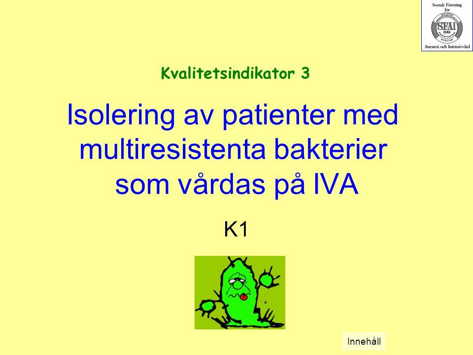 Isolering av patienter med multiresistenta bakterier som vårdas på IVA