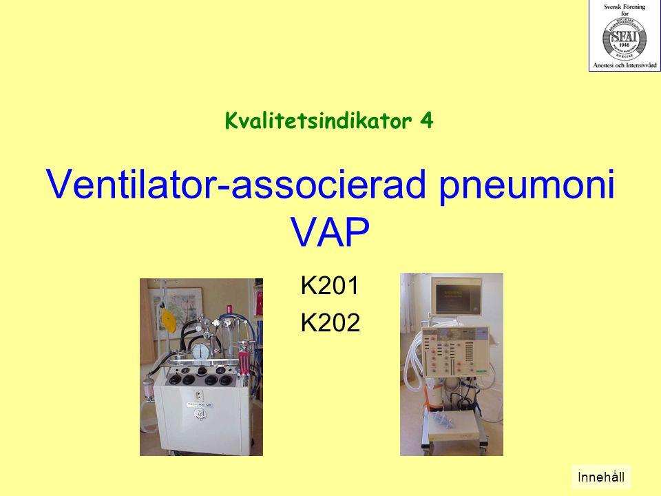 Ventilator-associerad pneumoni VAP