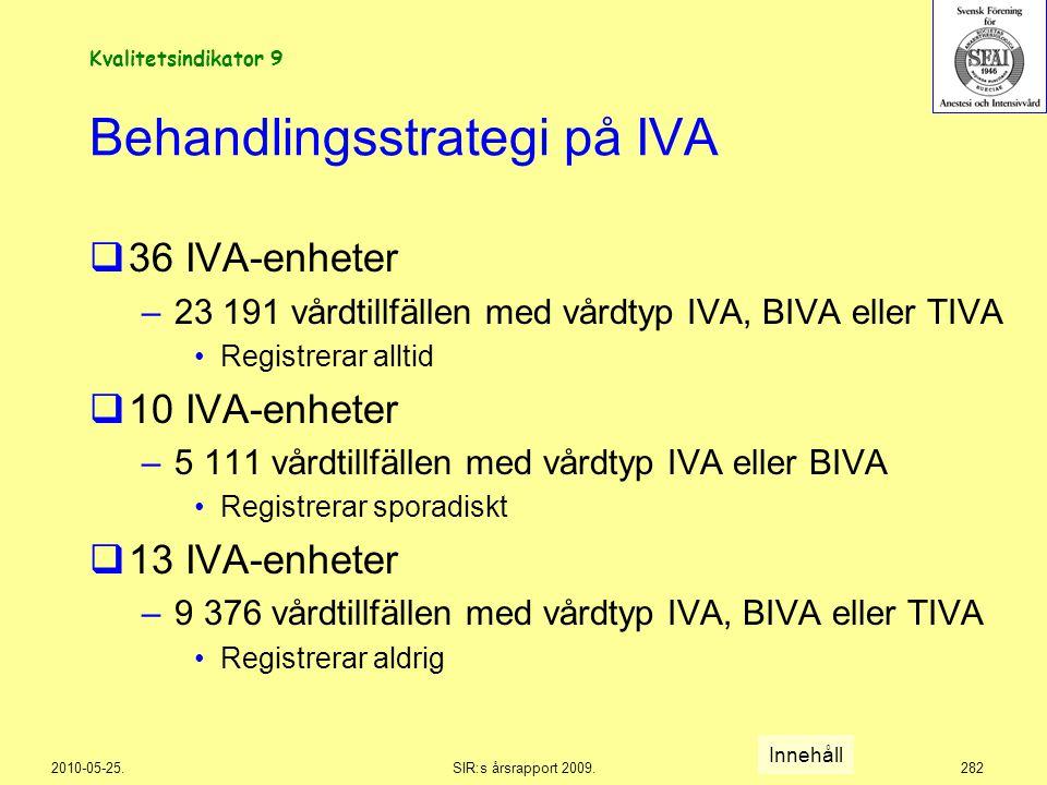 Behandlingsstrategi på IVA