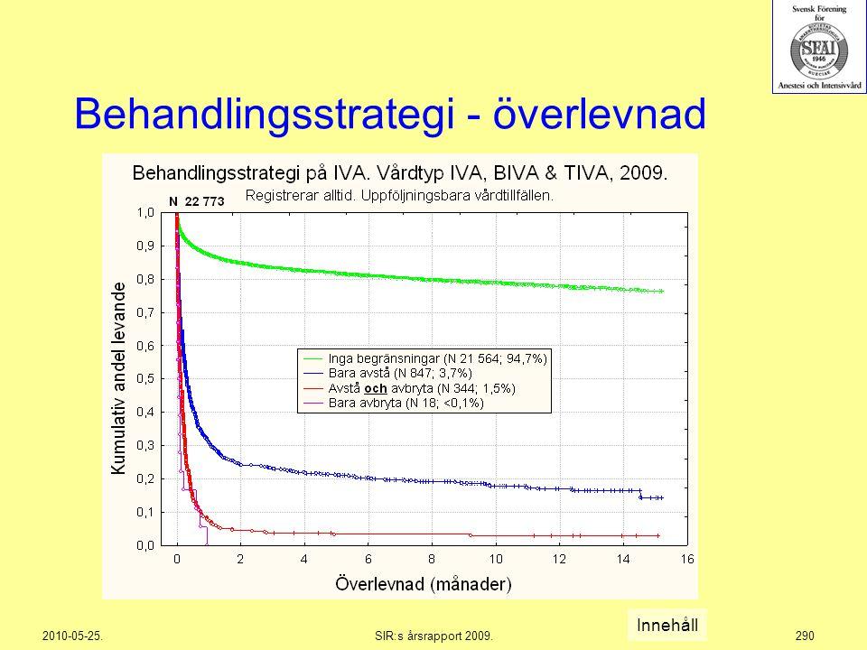 Behandlingsstrategi - överlevnad