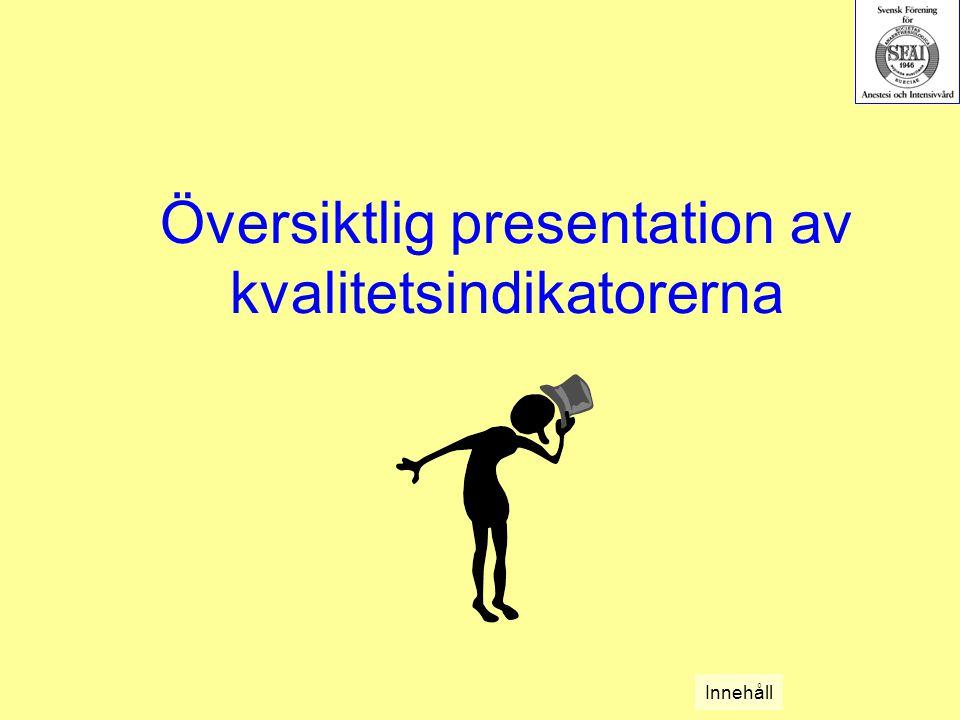 Översiktlig presentation av kvalitetsindikatorerna