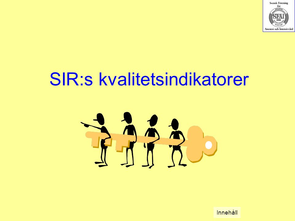 SIR:s kvalitetsindikatorer