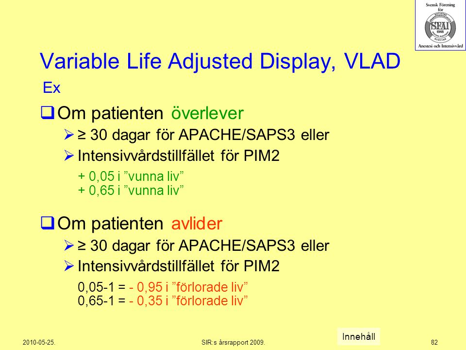 Variable Life Adjusted Display, VLAD