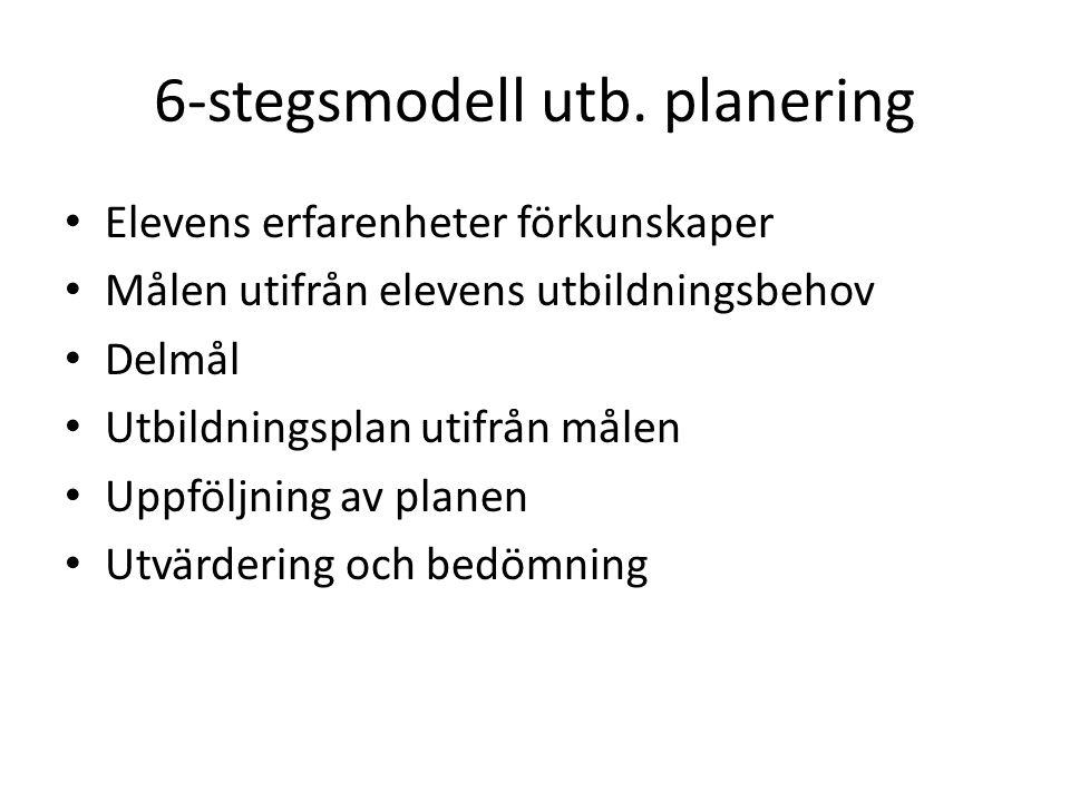 6-stegsmodell utb. planering