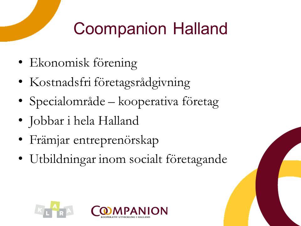 Coompanion Halland Ekonomisk förening Kostnadsfri företagsrådgivning