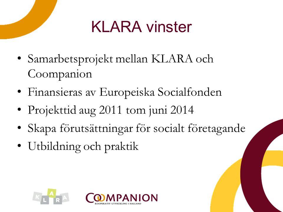 KLARA vinster Samarbetsprojekt mellan KLARA och Coompanion