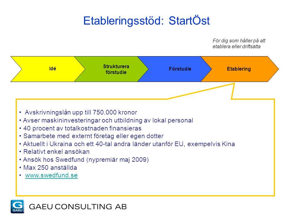 Etableringsstöd: StartÖst