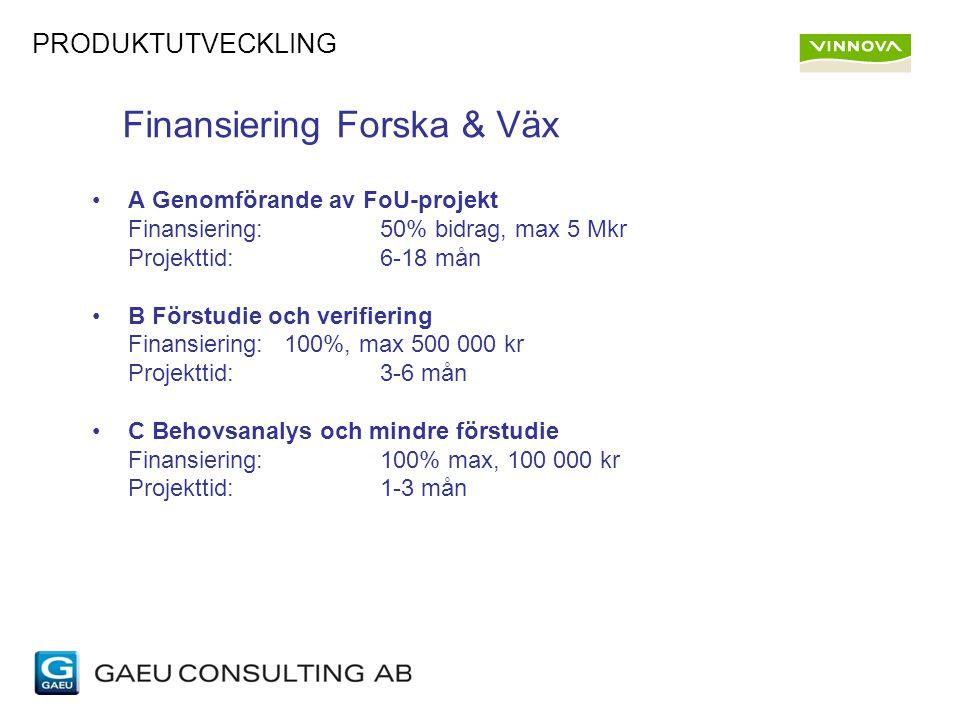 Finansiering Forska & Väx