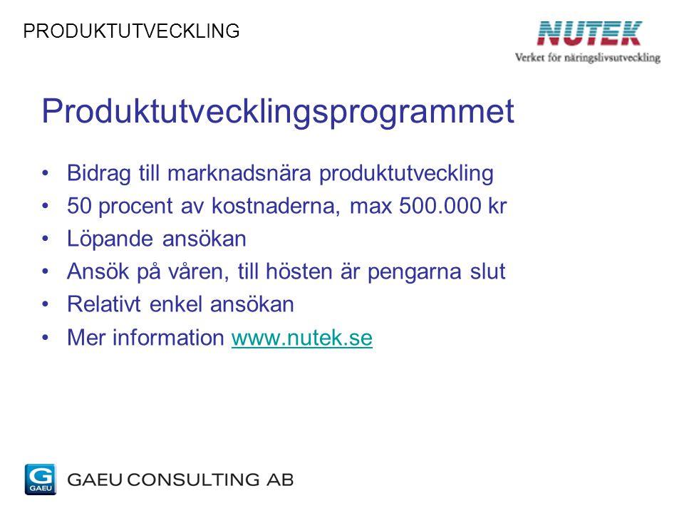 Produktutvecklingsprogrammet