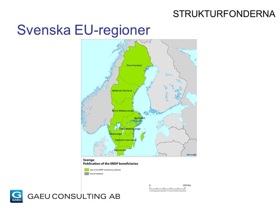 STRUKTURFONDERNA Svenska EU-regioner