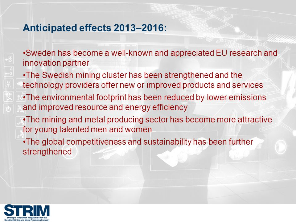 Anticipated effects 2013–2016: