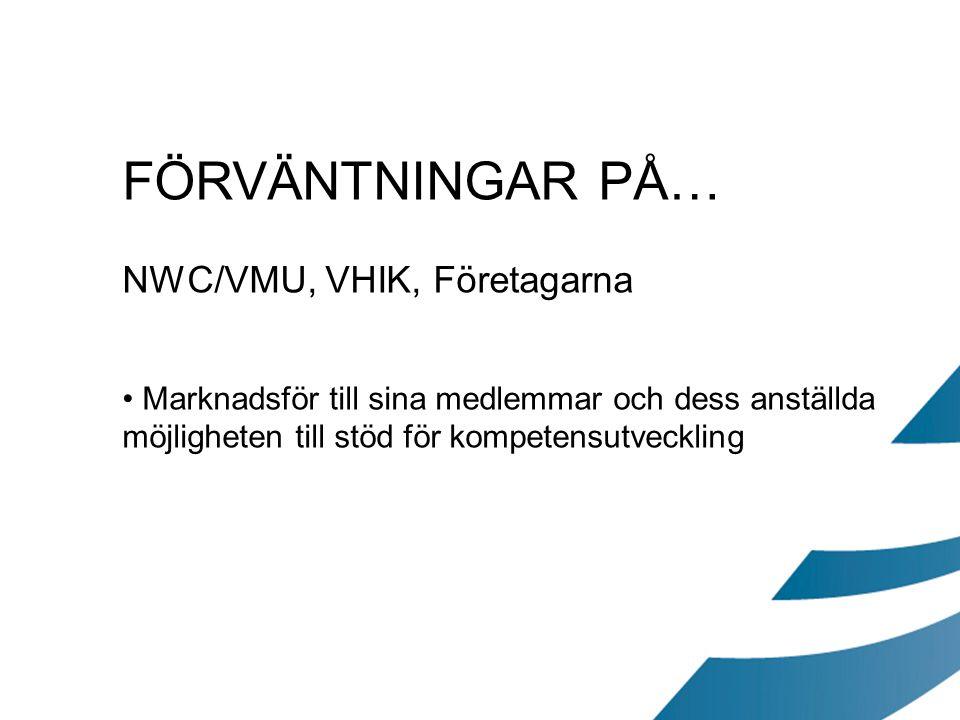 FÖRVÄNTNINGAR PÅ… NWC/VMU, VHIK, Företagarna