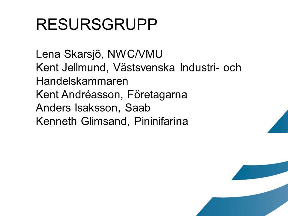 RESURSGRUPP Lena Skarsjö, NWC/VMU