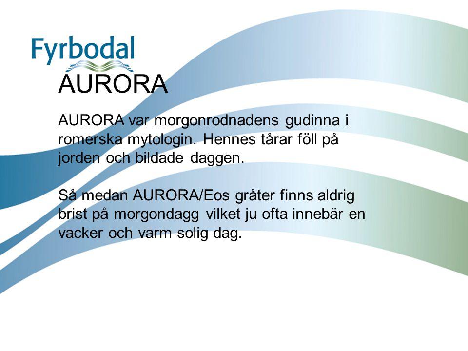 AURORA AURORA var morgonrodnadens gudinna i romerska mytologin. Hennes tårar föll på jorden och bildade daggen.