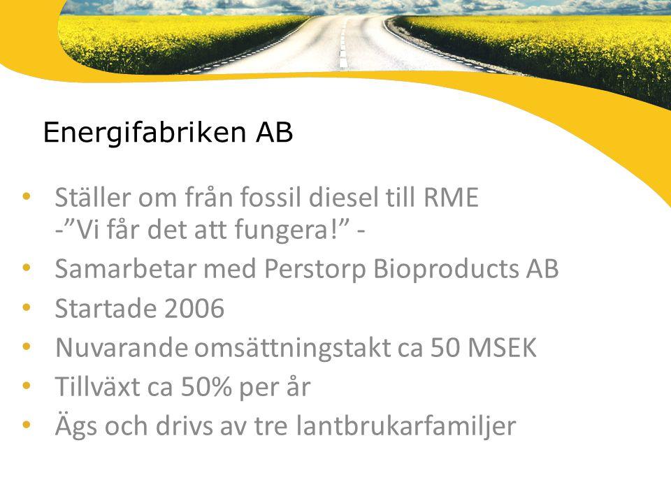 Ställer om från fossil diesel till RME - Vi får det att fungera! -