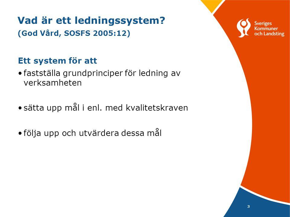 Vad är ett ledningssystem (God Vård, SOSFS 2005:12)