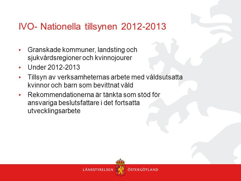 IVO- Nationella tillsynen 2012-2013