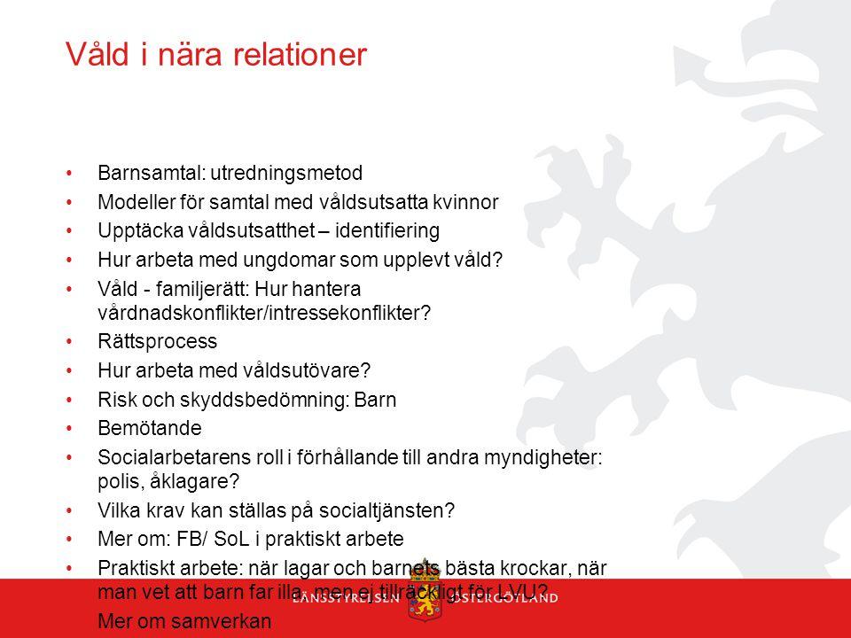 Våld i nära relationer Barnsamtal: utredningsmetod