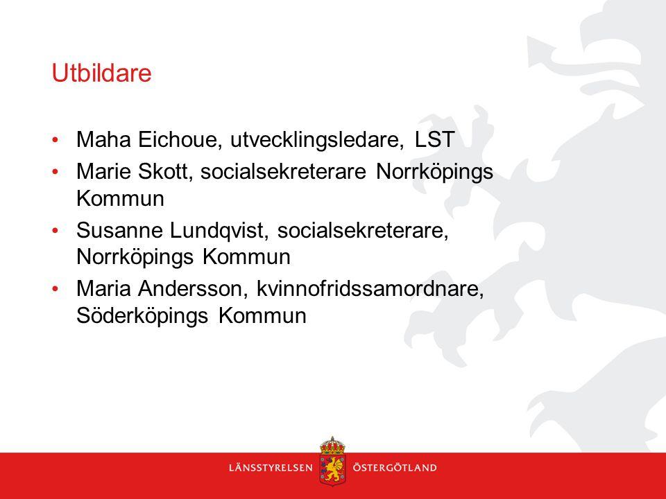 Utbildare Maha Eichoue, utvecklingsledare, LST