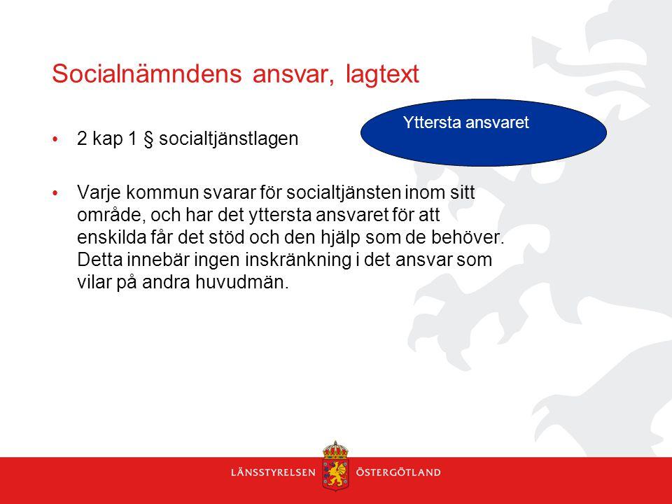 Socialnämndens ansvar, lagtext