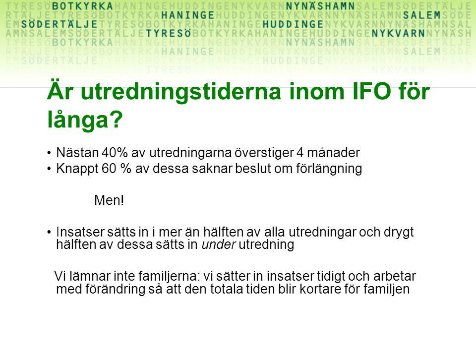 Är utredningstiderna inom IFO för långa
