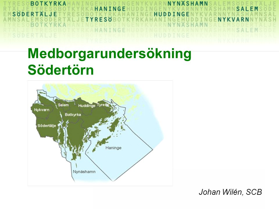Medborgarundersökning Södertörn