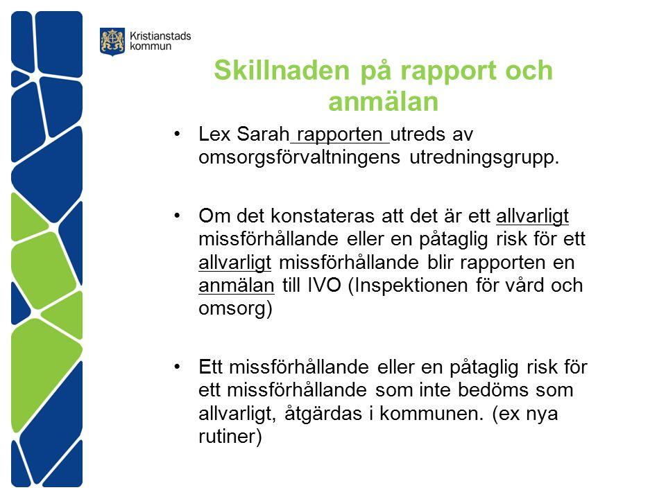 Skillnaden på rapport och anmälan