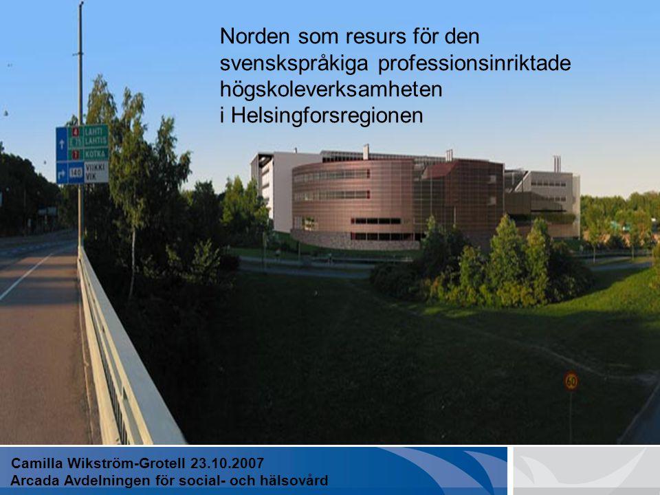 EN PROFESSIONSINRIKTAD HÖGSKOLA
