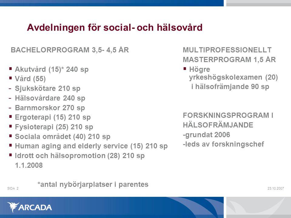 Avdelningen för social- och hälsovård