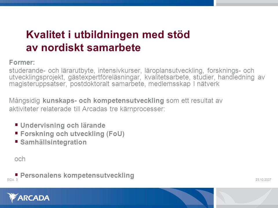 Kvalitet i utbildningen med stöd av nordiskt samarbete