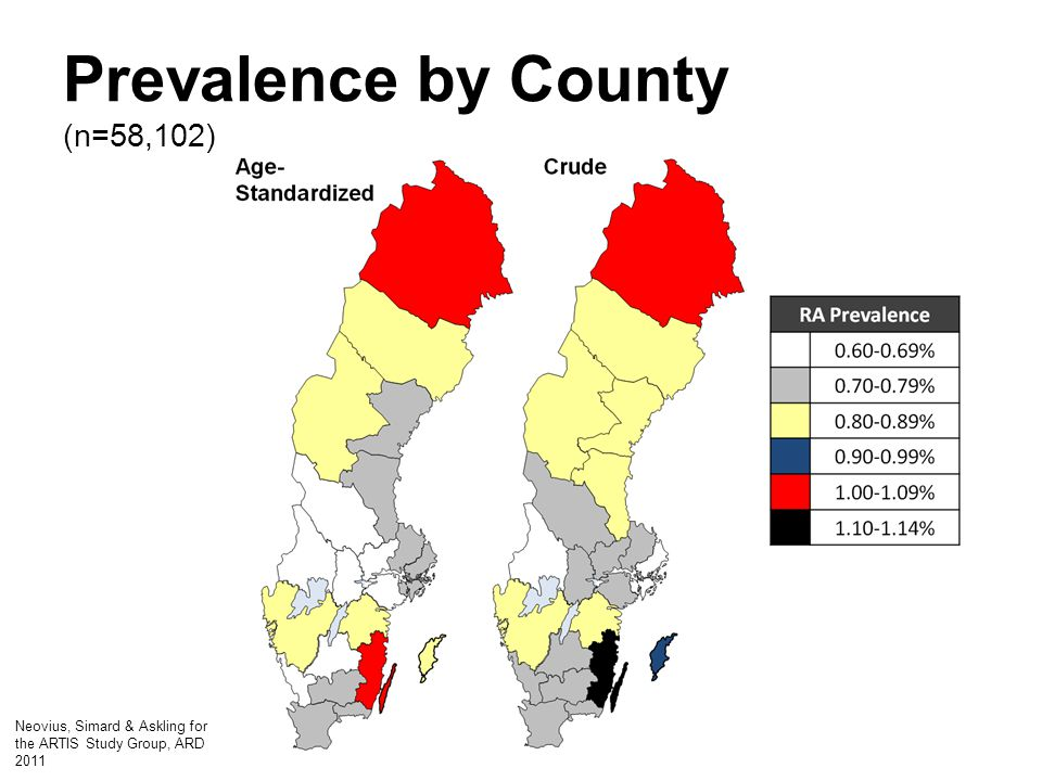 Prevalence by County (n=58,102)