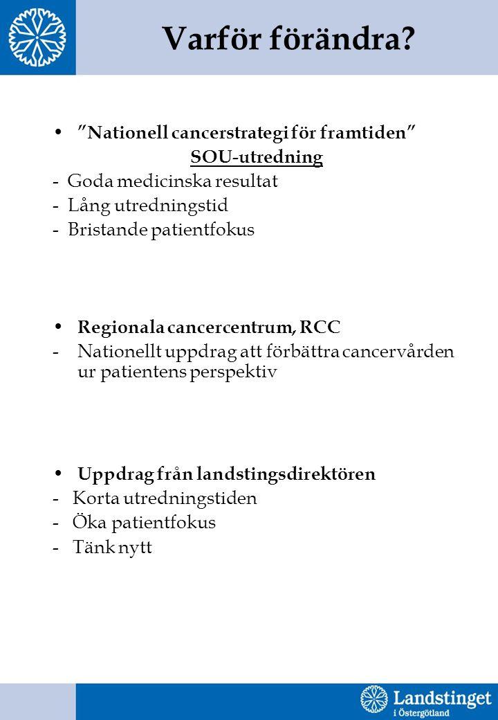 Varför förändra Nationell cancerstrategi för framtiden