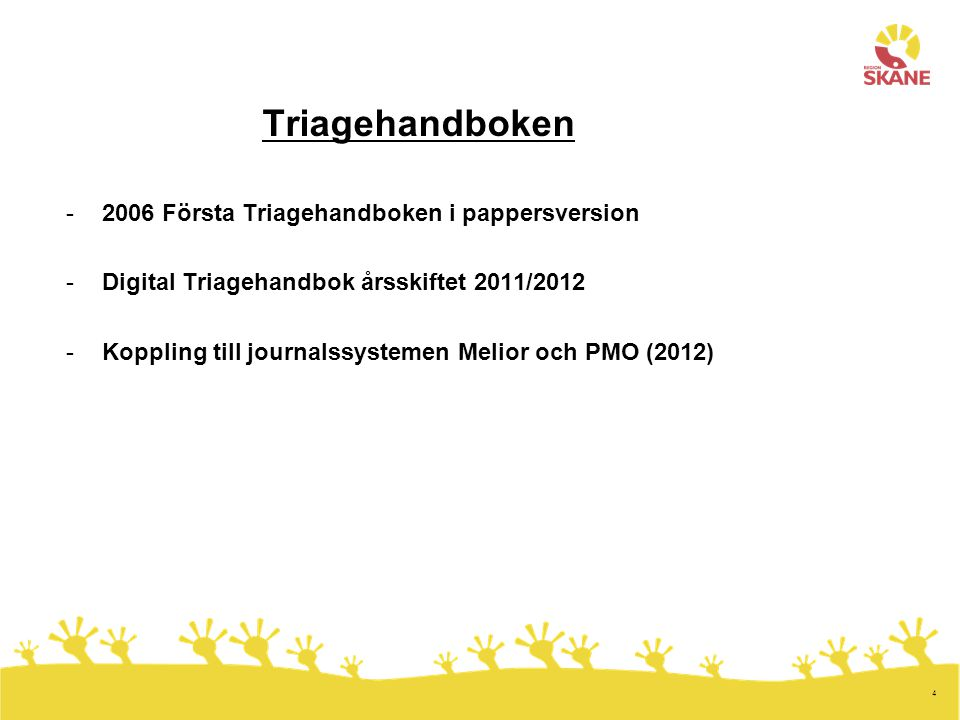 Triagehandboken 2006 Första Triagehandboken i pappersversion